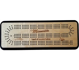 Minnesota Travel 3 Track (Land of 10,000 Lakes) Cribbage Board