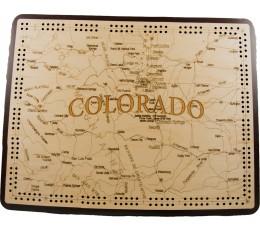 Colorado Map Cribbage Board