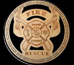 Fire & Rescue 2 Track Cribbage Board