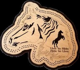Horse Cribbage Board
