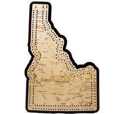Idaho Map Cribbage Board