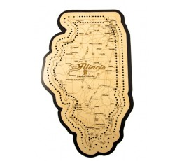 Illinois Map Cribbage Board
