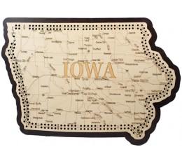 Iowa Map Cribbage Board