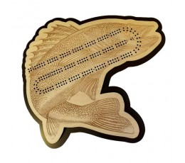 Jumping Walleye Cribbage Board