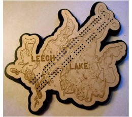 Leech Lake, Cass County, MN Cribbage Board