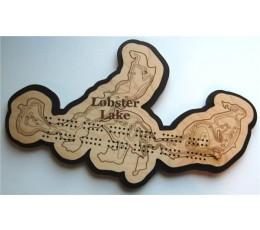 Lobster Lake, Douglas County, MN Cribbage Board