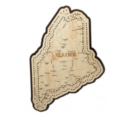 Maine Map Cribbage Board
