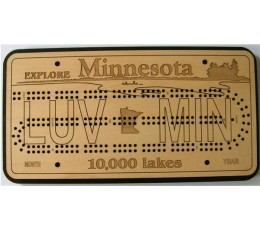 Minnesota License Plate Cribbage Board
