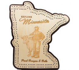 Minnesota Paul & Babe Cribbage Board