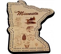 Minnesota Shape Symbols Cribbage Board.