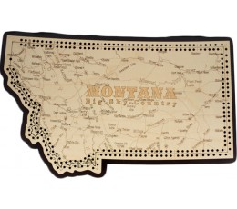 Montana Map Cribbage Board
