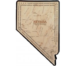Nevada Map Cribbage Board