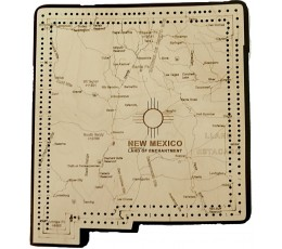 New Mexico Map Cribbage Board