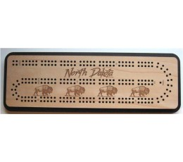 North Dakota Travel Cribbage Board