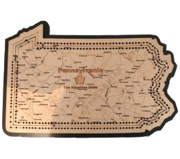 Pennsylvania Map Cribbage Board