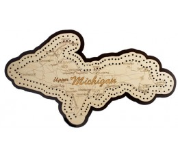 Upper Michigan Map Cribbage Board