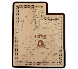 Utah Map Cribbage Board