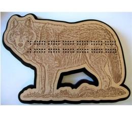 Wolf Cribbage Board