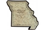 Missouri Map Cribbage Board