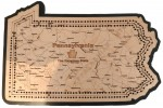 Pennsylvania Map Cribbage Board
