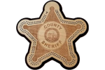 Sheriff Badge Cribbage Board