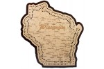 Wisconsin Map Cribbage Board