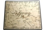 Wyoming Map Cribbage Board