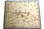 Wyoming Map Cribbage Board