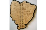 Big Sandy Lake, Aitkin County, MN Cribbage Board