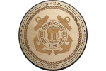 Coast Guard Seal Cribbage Board
