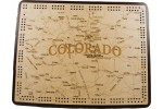 Colorado Map Cribbage Board