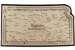 Kansas Map Cribbage Board