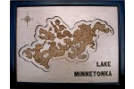 Lake Minnetonka Framed Wood Art, Hennepin County, MN