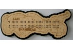 Lake Shamineau, Morrison County, MN Cribbage Board
