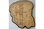 Mille Lacs Lake, Aitkin County, MN Cribbage Board
