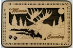 Moose Cribbage Board