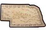 Nebraska Map Cribbage Board