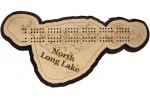 North Long Lake, Crow Wing County, MN Cribbage Board