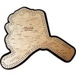 Alaska Map Cribbage Board