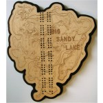 Big Sandy Lake, Aitkin County, MN Cribbage Board
