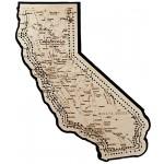California Map Cribbage Board