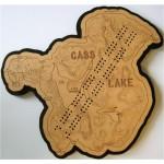 Cass Lake, Beltrami & Cass Counties, MN Cribbage Board
