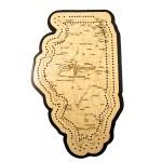 Illinois Map Cribbage Board