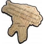 Lake Huron Map Cribbage Board