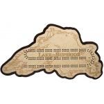 Lake Superior Map Cribbage Board