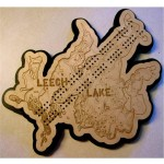 Leech Lake, Cass County, MN Cribbage Board