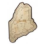 Maine Map Cribbage Board