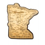 Minnesota Map 2 Track Cribbage Board