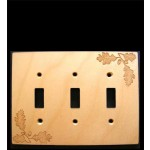 Oak Leaf Triple Switch Plate