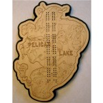 Pelican Lake, Crow Wing County, MN Cribbage Board